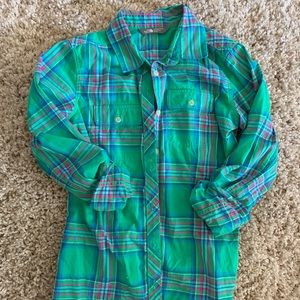 North Face button down, size small